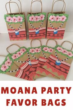 I love how cool these Moana party favor bags are for our Moana party. They look just like Moana. Moana Birthday Party, 4th Birthday Parties, 2nd Birthday, Moana Party Bags, Bday Girl, Party Favor Bags, Girls Camp, Shower Baby, Iris