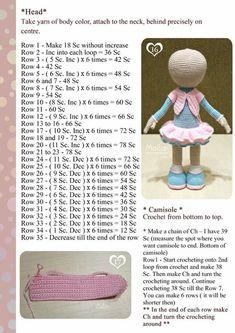 Free Amigurumi Crochet Doll Pattern and Design ideas – Page 8 of 37 – Daily Crochet! Free Amigurumi Crochet Doll Pattern and Design ideas – Page 8 of 37 – Daily Crochet!Free cute amigurumi patterns 25 amazing crochet ideas for beginners to make ea Crochet Tutorial, Amigurumi Tutorial, Crochet Patterns Amigurumi, Amigurumi Doll, Crochet Toys, Crochet Dolls Free Patterns, Knitted Dolls, Cute Dolls, Stuffed Toys Patterns