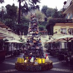 Fendi Christmass Tree at Hotel de Russie, Rocco Forte Hotels #Rome #Italy