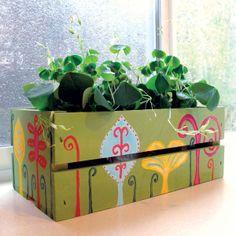 Spring Flower Box project from DecoArt