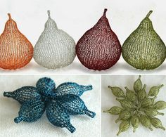 crochet wire home decor - I am intrigued by the idea of crocheting with wire to make 3-demensional art pieces....might need to try this summer