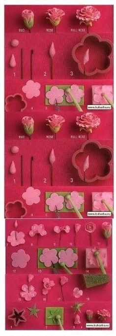 Gum paste roses