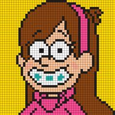 Mabel Pines Gravity Falls Perler Bead Pattern