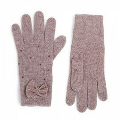 Strass & Bow Light Brown Fullah Sugah Gloves #knitted #gloves Bow Light, Knitted Gloves, Winter Is Coming, Bows, Rhinestones, Arches, Arch Light, Bow, Bowties