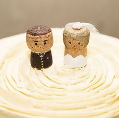 Wine Cork Wedding Cake Topper