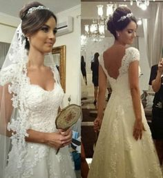 New white/ivory Lace Wedding dress Bridal custom size 2-4- 6-8-10-12-14-16