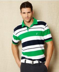 Nautica Shirt, Six Feed Stripe Polo Shirt - Mens Polos - Macy's - Shaun for family pictures?