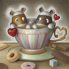 Peter Smith artist - You're My Cup Of Tea - Artmarket Contemporary Art Gallery