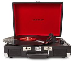 Crosley Cruiser Briefcase Style Three Speed Portable Vinyl Turntable with Built-In Stereo Speakers - Turquoise: Amazon.co.uk: Audio & HiFi