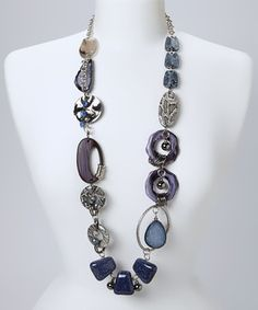 Another great find on #zulily! Lapis & Silver Snake Bead Necklace by Treska #zulilyfinds