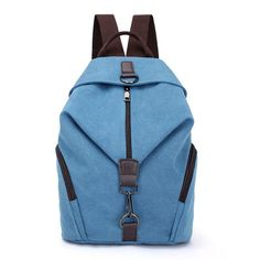 879315e77cda Pretty style pure color canvas women backpack college student school book  bag leisure backpack travel bag