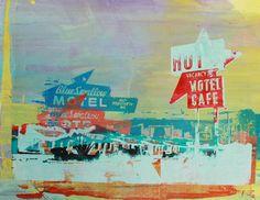"""Adeline Meilliez ~ """"Motel Café"""" (2013) painting via Saatchi Art"""