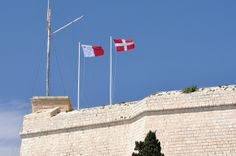 Ave Crux Alba  The flags of Malta and the Order of St. John over the walls of Fort St. Angelo in Birgu. The Order has recently returned to Malta, after signing an agreement with the Maltese Government which granted the Order the exclusive use of Fort St. Angelo for 99 years. Located in the town of Birgu, the Fort belonged to the Knights from 1530 until the island was occupied by Napoleon.