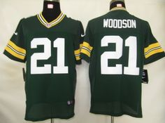 Nike NFL Elite Jerseys Green Bay Packers Charles Woodson #21 White ...