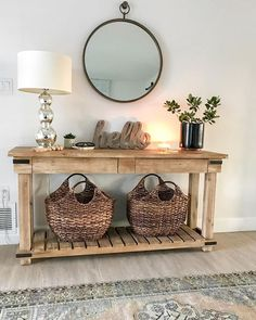 Fall entryway decor easy + simple touches to welcome fall into your home - diy-home-decor Fall Entryway Decor, Entryway Ideas, Hall Way Decor, Entrance Table Decor, Entryway Mirror, Entryway Furniture, House Furniture, Furniture Stores, Office Furniture