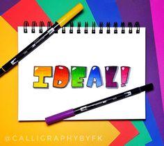 Hand Lettering, Day, Instagram Posts, Design, Handwriting, Design Comics, Hand Drawn Type, Hand Type