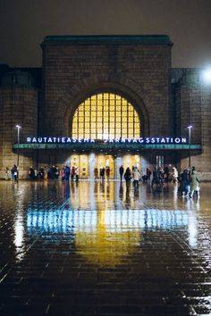 The railway station in Helsinki on rainy day (via Great Places, Places To Go, Alaska, Visit Helsinki, Finland Travel, Central Station, Denmark, Norway, Around The Worlds