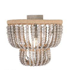 Wood Bead Chandelier, Flush Mount Chandelier, Black Chandelier, Semi Flush Lighting, Lighting Sale, Eclectic Chandeliers, Ceiling Lights, Round Frame