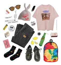 """""""When does it stop hurting"""" by dd-pookey ❤ liked on Polyvore featuring Just Junkies, Dr. Martens, Neff, Chloé, Shandell's and Giorgio Armani"""