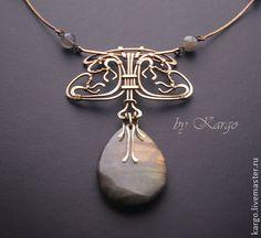 Колье, бусы ручной работы. Ярмарка Мастеров - ручная работа Колье Lalique. Handmade.
