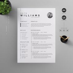 O V E R V I E W Clean, Modern and Professional Resume and Letterhead design. Fully customizable easy to use and replace color & text. H I G H L I G H T S - 2 pages resume template ( & US Resume Layout, Resume Tips, Resume Cv, Resume Examples, Resume Help, Cool Resumes, Resume Skills, Graphic Design Resume, Letterhead Design