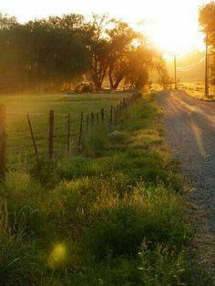 Hermoso amanecer en el campo !!!!