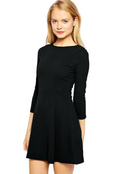 Casual Loose Solid Pleated Shift Mini #Dress - OASAP.com •.❤ Free Shipping + Christmas Holiday Gift Ideas from $2.9