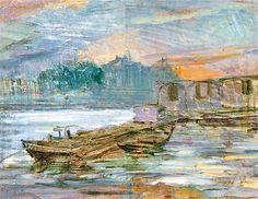 The Athenaeum - Barges on the Seine (Stanislaw Wyspianski - )