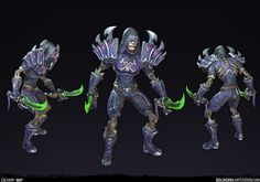 Deathmantle Rogue - Stylized PBR Character, Zachary May on ArtStation at https://www.artstation.com/artwork/8Ozwm
