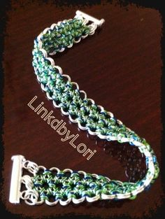 Japanese Lace Bracelet in Silver, Blues and Greens!! | Linkdbylori - Jewelry on ArtFire