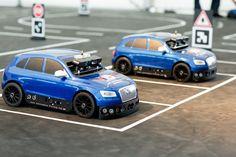 Ces Q5 taille réduite, aux airs de voitures radiocommandées, servent à Audi et…