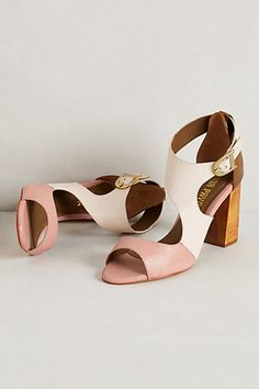 Pinta Heels #anthropologie These are so interesting and are on trend with the ankle strap detail!!  Love love love!!
