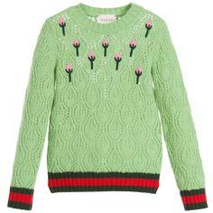 Wool Green Cardigan 12 Girls