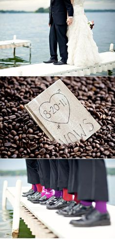 Love the shot with the coffee beans! Coffee has to be incorporated somehow in our wedding :)