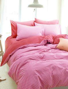 Polka Dots Stars Rose Bedding Girls Bedding Teen Bedding Kids Bedding