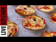 Πανεύκολα σε παρασκευή και λαχταριστά! Kitchen Living, Food Videos, Baked Potato, Muffin, Good Food, Appetizers, Pizza, Breakfast, Mini