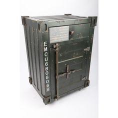 Lifestyle Designer Möbel Schrank Sideboard Container im Retrolook grau