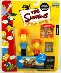 The Simpsons Series 9 Playmates Action Figure Rod Todd Flanders