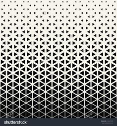 Abstract geometric black and white graphic design print halftone triangle pattern