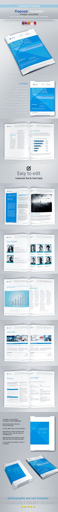 Proposal Template Proposal templates, Proposals and Adobe - purchase proposal templates