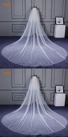 3 Meter Two-Layer Wedding Veil With Comb Cut Edge Soft Tulle Long Women Bridal Veils Wedding Accessories