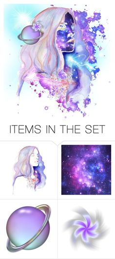 """""""Saturn"""" by beanpod ❤ liked on Polyvore featuring art, light, abstract, universe and space"""