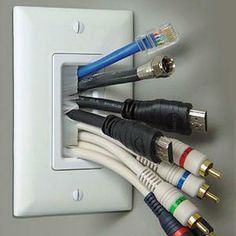 Brush wall plate. Use this to hide cable behind wall after mounting TV.