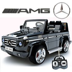 Licensed Black Mercedes AMG Luxury Kids Jeep - : Kids Electric Cars, Little Cars for Little People Mercedes G55 Amg, Toy Cars For Kids, Little Cars For Kids, Power Wheels, Kids Ride On, Ride On Toys, Cool Bicycles, G Wagon, Rubber Tires