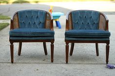 Perfect step by step instructions with photo - Cane chair makeover