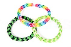 Tutorial:  3-Pin Fishtail Rubberband Bracelet using the Rainbow Loom.