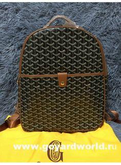 Goyard ST MM Backpack Black with tan