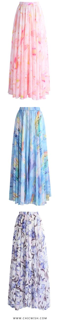 43% OFF Limited Time Sale! New Chiffon Maxi Skirts