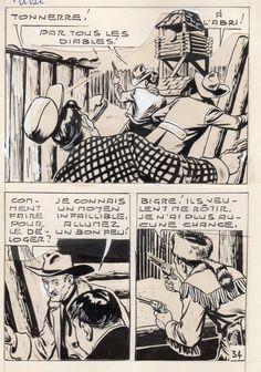 MIKI LE RANGER LES TRAPPEURS  PLANCHE  MONTAGE NEVADA 1959 PIECE UNIQUE PAGE 34 fr.picclick.com