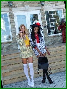 Clueless Halloween Costume, Best Friend Halloween Costumes, Diy Halloween Costumes For Women, Creative Halloween Costumes, Diy Costumes, Halloween Ideas, Chic Halloween, Halloween 2020, Costume Ideas